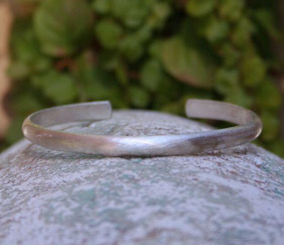 Sterling Silver Cuff Rustic Earthy Recycled Silver by MissieRabdau, $70.00