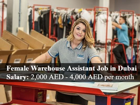 Female Warehouse Assistant Job In Dubai Uae Assistant Jobs Job Agency Job