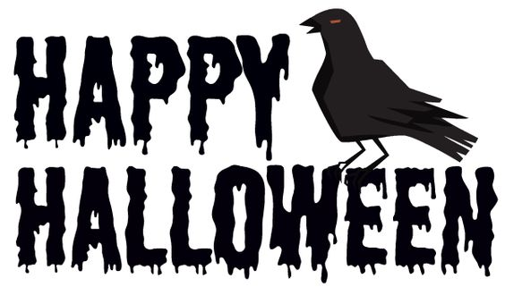 Happy Halloween Black And White Free Black and White H...