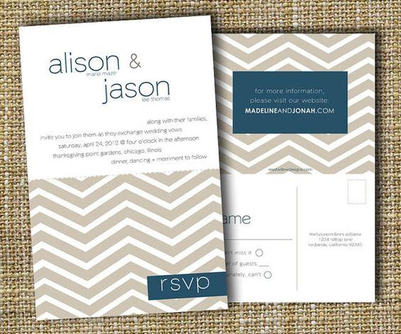 Perforated wedding invite