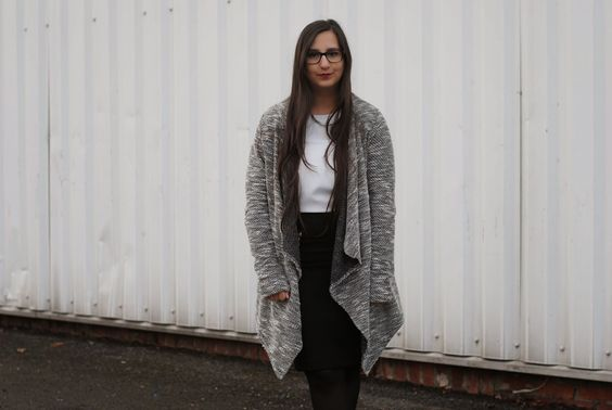 oversized vest, grey, outfit