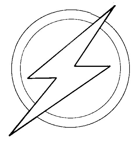 Flash Symbol Outline The Logo Of Barry Allen Birthday Cake Helps