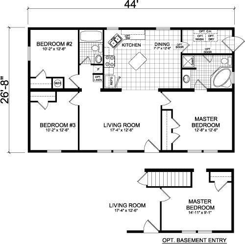 Floor plans and floors on pinterest for 24 x 40 floor plans