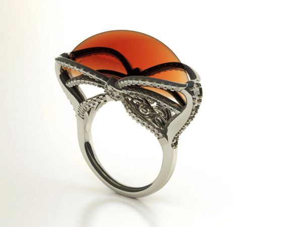 Orange Wedge - Cocktail Ring by eva tucek, via Behance