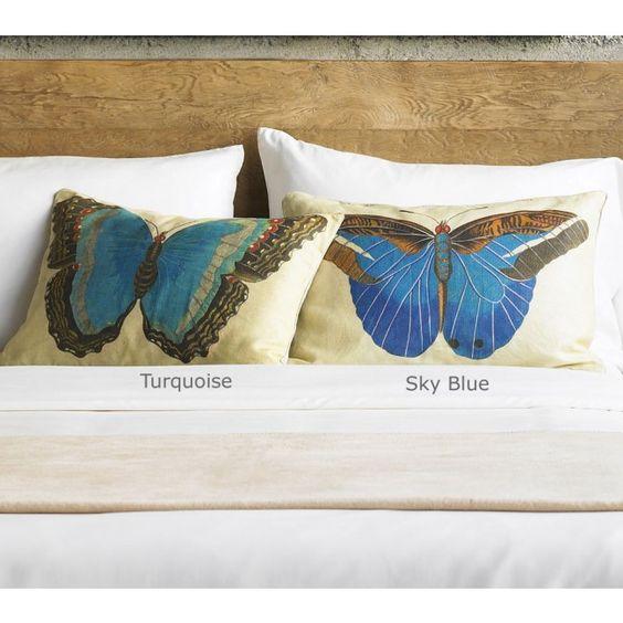 Linen Papillon Pillows - VivaTerra