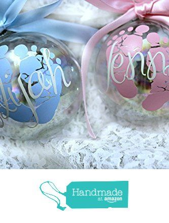 Amazing Personalized Baby's First Christmas Ornament / Custom Ornament / Christmas Ornament / Gift for New Moms from JsCraftystudio https://www.amazon.com/dp/B016C86JM6/ref=hnd_sw_r_pi_dp_W1HlybX0DDVQE #handmadeatamazon