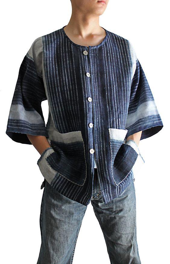 Cáñamo chaqueta JHM-007-02 Mont batik Kofu