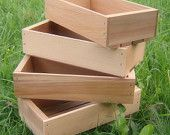 Wood Seed Starting Trays, Medium