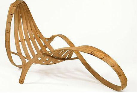 modern bamboo chaise