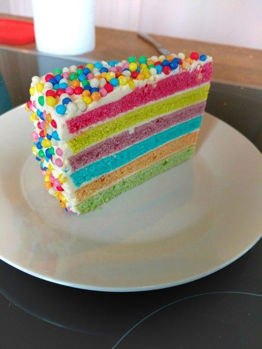 Regenbogenkuchen Von Momoboutte Chefkoch Rezept Regenbogen Kuchen Kuchen Ohne Backen Kuchen Und Torten Rezepte