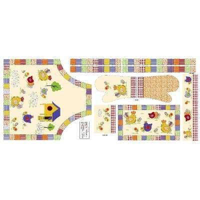 (2) Tecido Patchwork Kt Cozinha-avental-luva-barras-bate Mão - R$ 12,99 em…