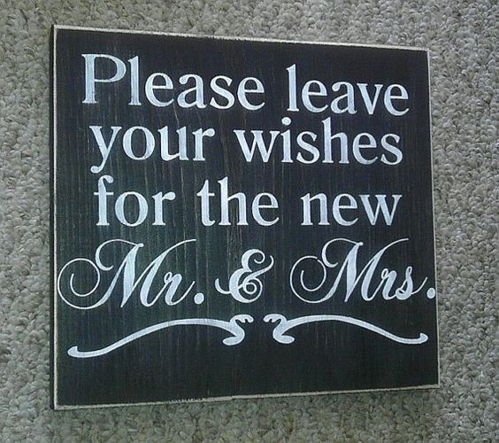 Please leave yur wishes for the new Mr. & Mrs. Primitive Wedding Sign Great Shower Gift Pick Your Own Colors on Etsy, $15.00