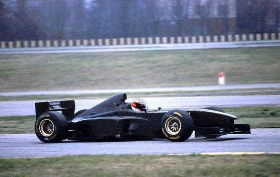 """Michael Schumacher drives """"black"""" Ferrari F300 in Fiorano. 1998"""