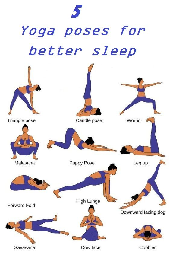5 Yoga Poses For Better Sleep Easy Yoga Workouts Relaxing Yoga Yoga For Stress Relief