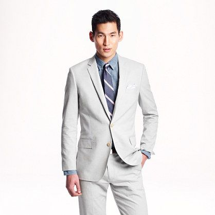 Ludlow suit jacket in Italian oxford cloth - lightweight suiting