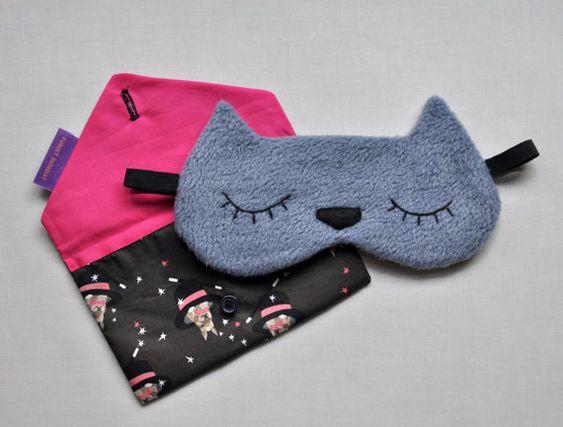 masque de nuit chat kawaii pour prendre l 39 avion avec classe fait main cats sleep and handmade. Black Bedroom Furniture Sets. Home Design Ideas