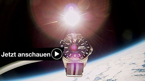EXPERIMENT: UHR MIT ACTION CAM IM WELTALL SPACE CAM
