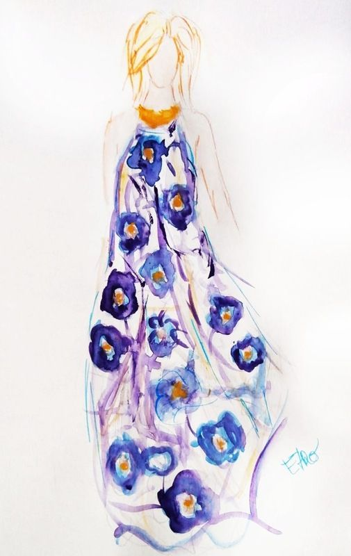 Fashion plate - Etro. Moramontti's Illustrations #ilustraciones #moda #fashion #illustrations