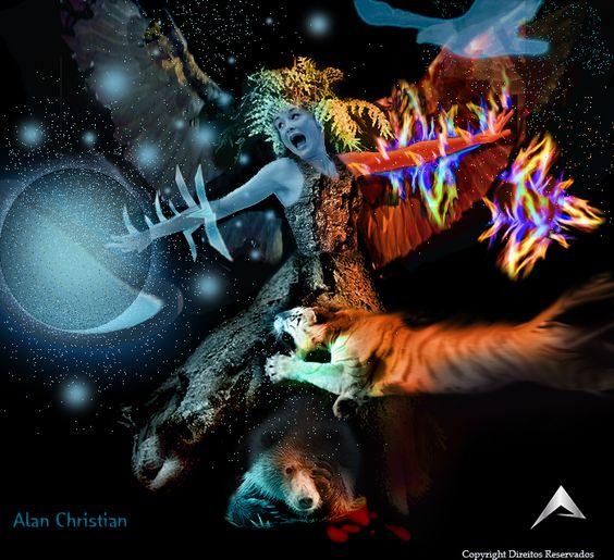Nome da composição: Furia da natureza. Ela representa a luta que a natureza vem travando contra a destruição dos homens