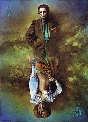 Ida as the Playcard by Jan Saudek.