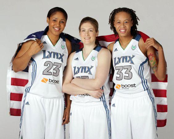 Maya Moore, Lindsay Whalen, Seimone Augustus, Minnesota Lynx