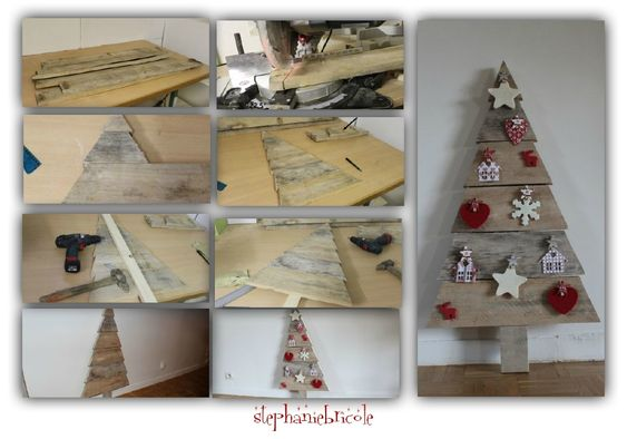 Diy faire un sapin en bois de palette diy and crafts and - Sapin de noel en bois de palette ...