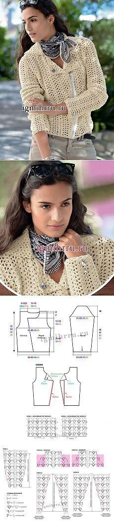 Jacket, jaquetas de couro fantasia padrão - tudo em céu aberto ... (crochet) - Home Moms