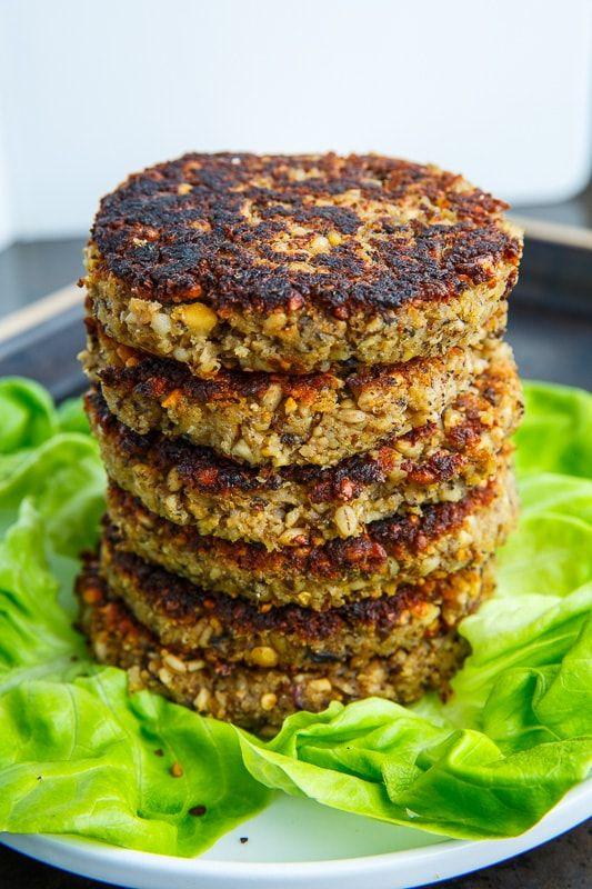 Mushroom And Eggplant Veggie Burgers Recipe Veggie Burgers Recipe Veggie Burger Recipe Vegetarian Veggie Burger