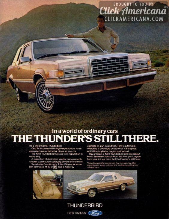 Ford Thunderbird Advertising Ford Thunderbird Thunderbird