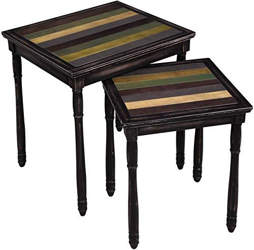 Enjoy Exclusive For Vasagle Nesting End Tables Colorful Storage