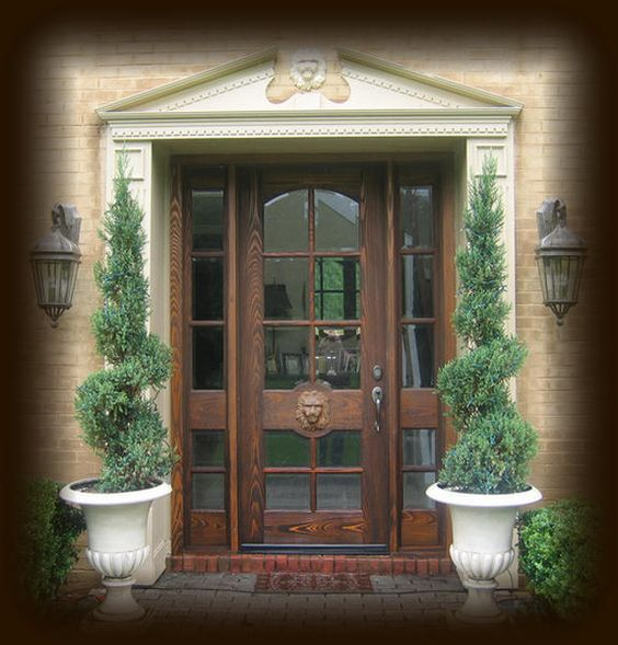 Country french exterior wood front entry door style dbyd for French door styles exterior