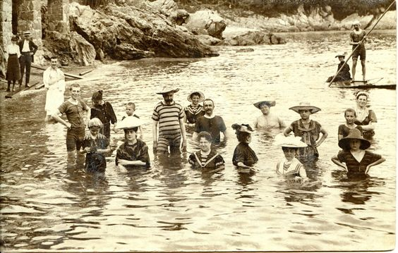 Bathing in Opatija (Abbazia) / Croatia c. 1900