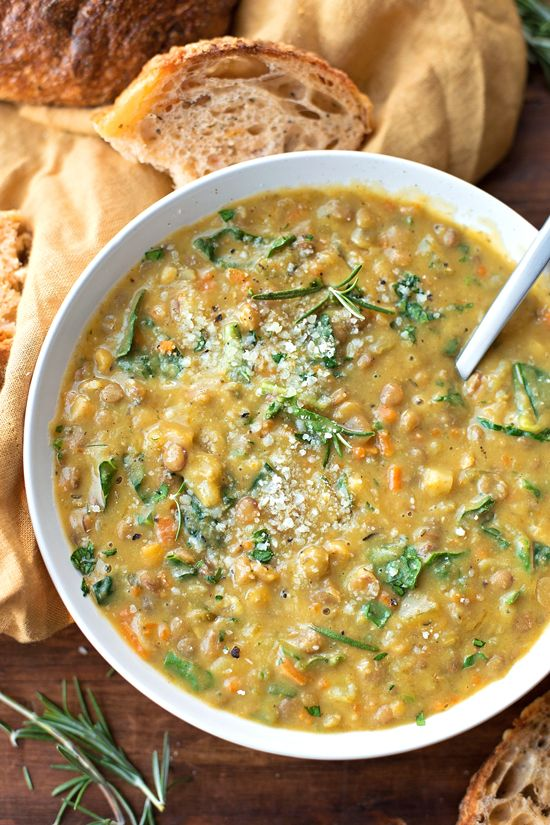 This veggie loaded lentil soup is both flavorful and filling. It's the perfect light yet hearty recipe to make all winter long.: