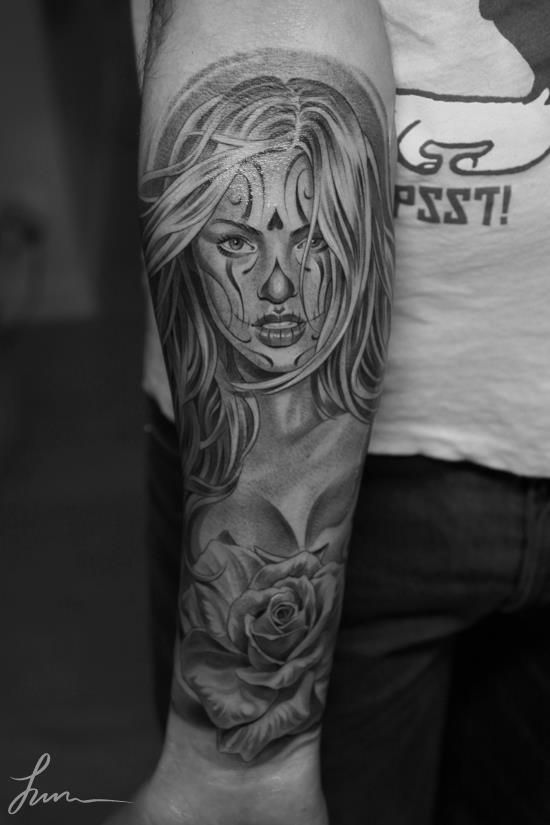La catrina tattoo catrina pinterest tatuagem e artistas - Santa muerte tatouage signification ...