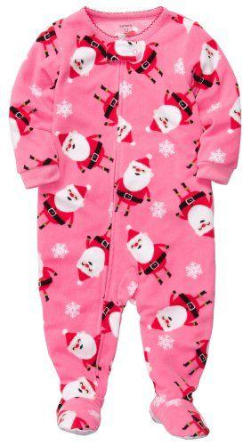 Carter's Baby Girls 1-piece Microfleece Christmas Pajamas (12M-24M ...