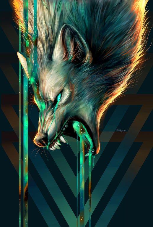 Wolf : iphonewallpapers in 2020 Wolf artwork Mythical creatures art Werewolf art
