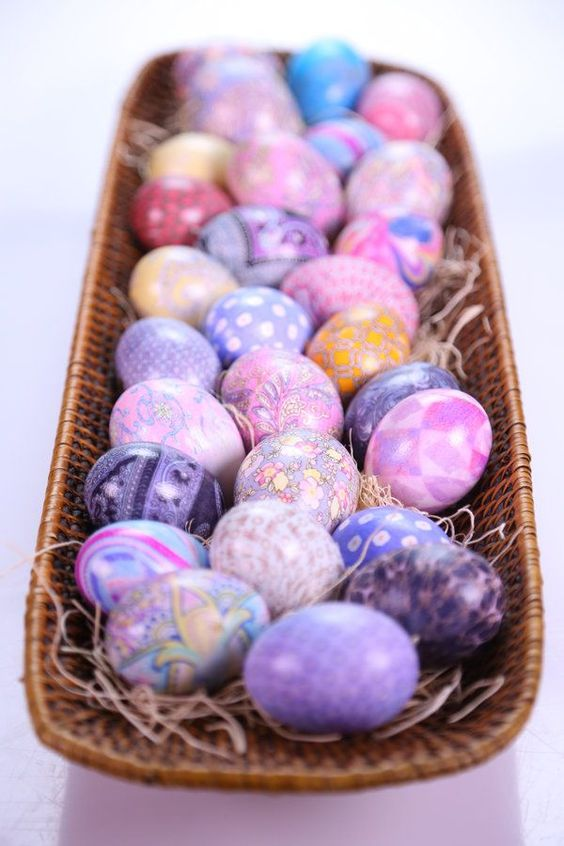 Dazzle your friends with these dyed eggs. The Chew. Clinton's craft corner. Caveat: silk eggs _cannot_ be eaten,