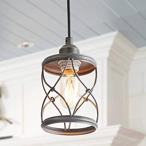 Laluz Industrial Mini Pendant Lighting For Farmhouse Kitchen