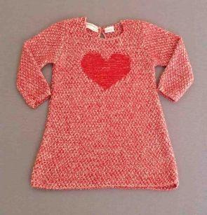 Vestido tricot rojo con corazón