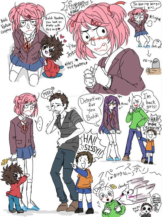 Pin By Inkcake On Crossovers With Images Cartoon Crossovers Literature Club Undertale Drawings