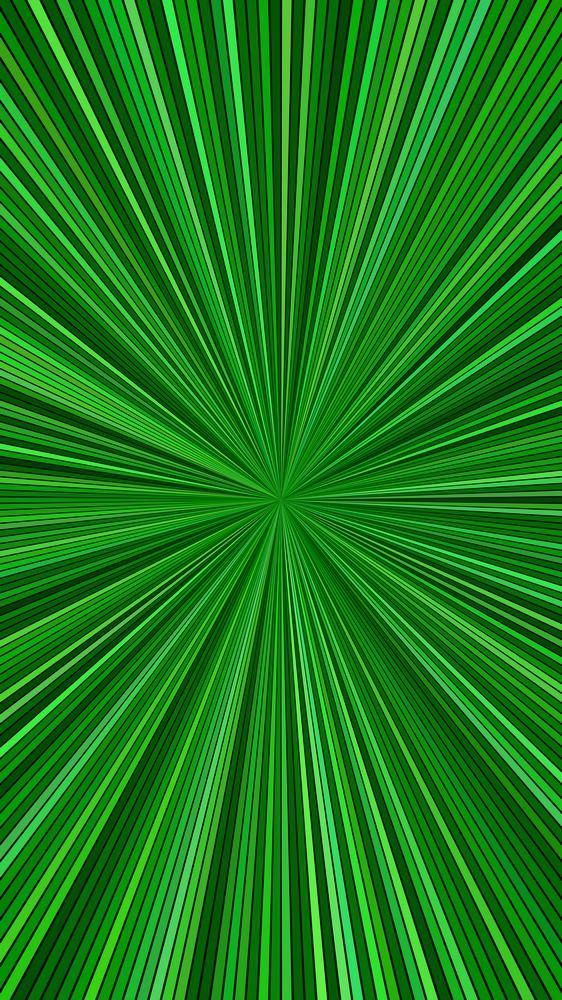 Green Psychedelic Abstract Striped Sun Burst Background Design
