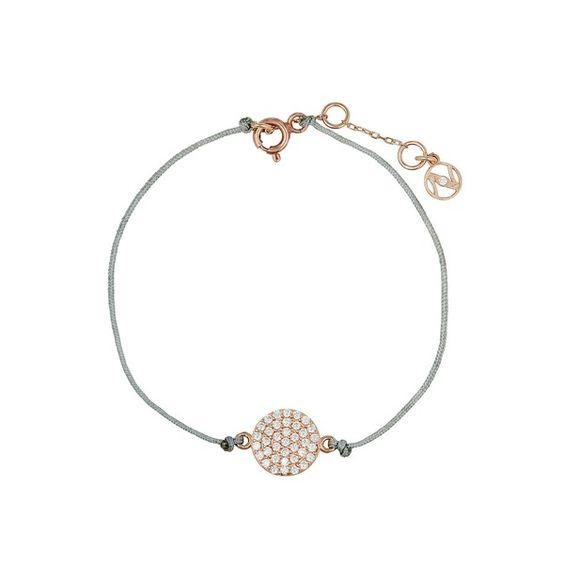 Nazar Berlin, Armband Ribbon aus Stoff & rosévergoldetem 925 Sterling Silber…
