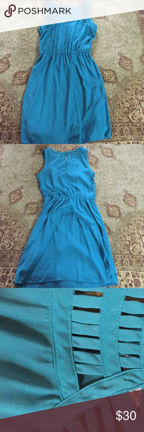 Beautiful blue dress Another one of my favorites.  Beautiful blue color don't want to part with it.  Best dresses ever from American eagle they are great for casual or nice. Doesn't fit unfortunately. American Eagle Outfitters Dresses Midi