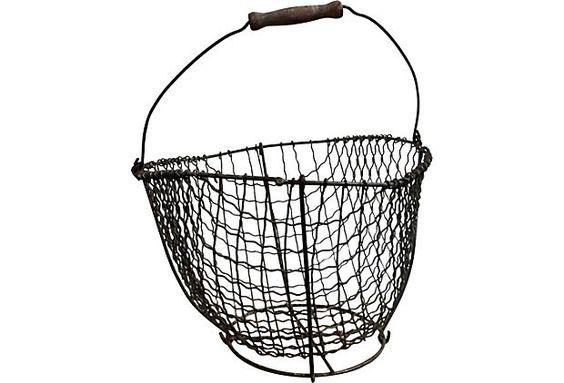 LUIS RODRIGUEZ  -  DESIGNER 19th-C. Wire Clam Basket OneKingsLane.com