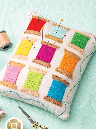 Thread Spools Pincushion Sewing Pattern