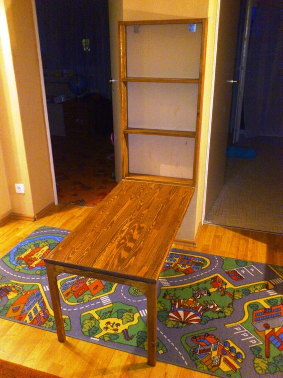 flip down kids table do it yourself home projects from ana white lots of diy projects i. Black Bedroom Furniture Sets. Home Design Ideas