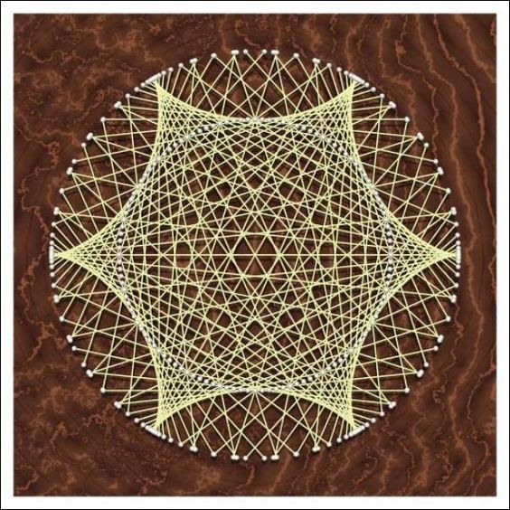 Straight Line String Art : String art i was always fascinated how straight lines