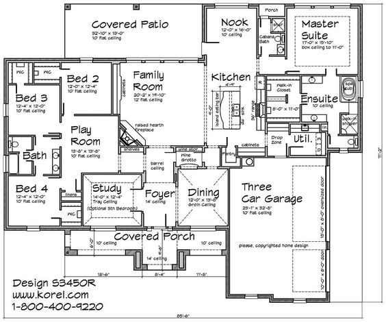Texas Hill Country   a touch of Tuscan  story home plan I    Single Story House Floor Plans  Story Floor Plans  Story House Plans    Sq Ft House Plans  Plan House  Texas Hill Country House Plans