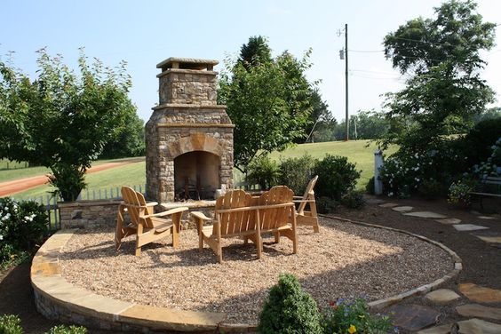 Outdoor Fireplace Pebbles : Pebble patio fireplaces and outdoor on
