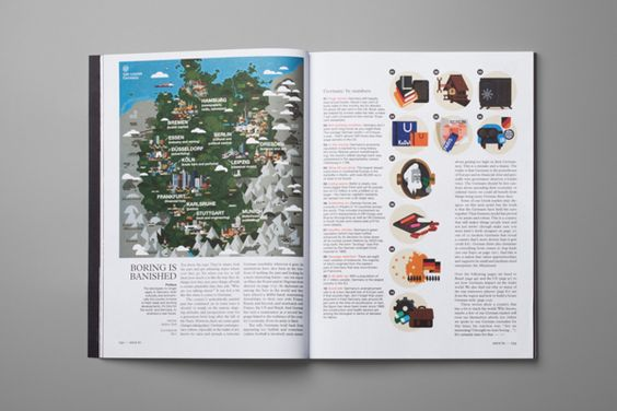 Monocle magazine - Map and Icons of Germany by Studio Hey